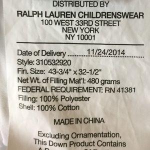 Ralph Lauren Collection Other - Ralph Lauren Collection baby girl blanket